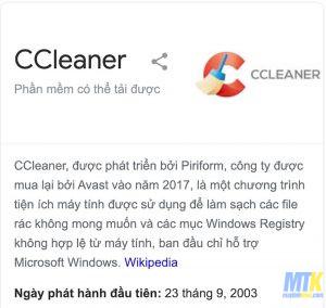 Download CCleaner: Vua phần mềm dọn rác máy tính