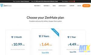 Hướng dẫn Fake IP máy tính bằng Zenmate Premium